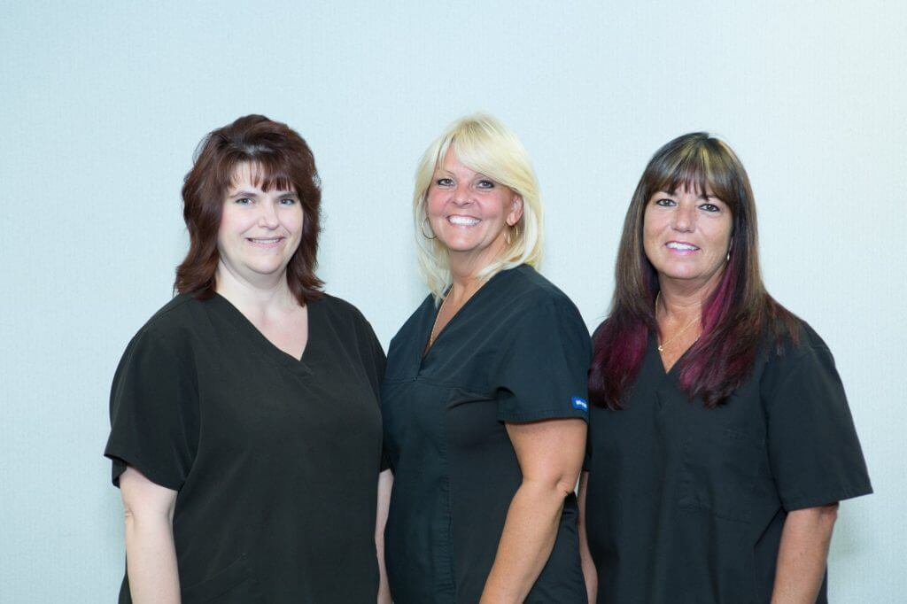 (Left to Right) Sherry Knoblock, RMA, BRIT, CRC, Sue Shidel, BS, CCRC, Pam Greer, BSN, RN, CRC
